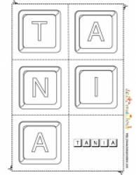 jouer avec les lettres du prénom Tania