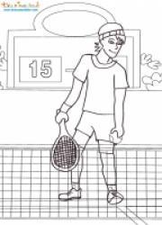 Coloriage sur le tennis