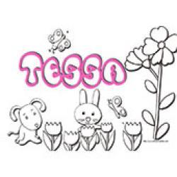 Tessa, coloriages Tessa