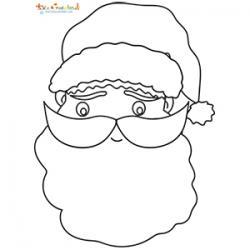 Coloriage d'une Tête de Père Noël