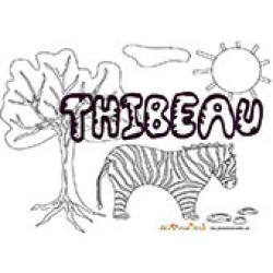 Thibeau, coloriages Thibeau