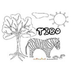 Tibo, coloriages Tibo