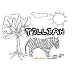 Tillian, coloriages Tillian