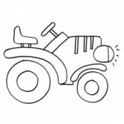 Coloriage d'un tracteur