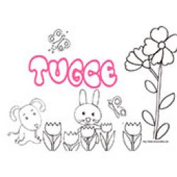 Tugce, coloriages Tugce