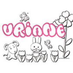 Uriane, coloriages Uriane