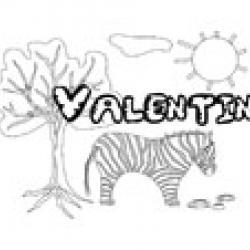 Valentin, coloriages Valentin