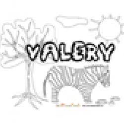 Valery, coloriages Valery
