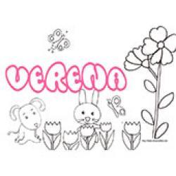 Verena, coloriages Verena