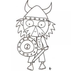 Coloriage d'un viking
