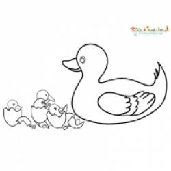 Coloriages vilain petit canard