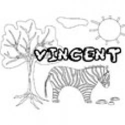 Vincent, coloriages Vincent