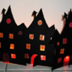 Fabrique une décoration d'Halloween - Fabrique ces photophores très spectaculaires pour Halloween. Tes photophores terminés, ils peuvent être posés côte à côte ou l&e