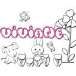 Viviane, coloriages Viviane