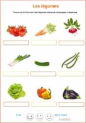 Exercice vocabulaire CP  - légumes