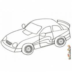Les coloriages de voitures classiques