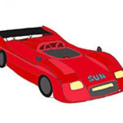 coloriage voiture, coloriage voiture de course gratuit