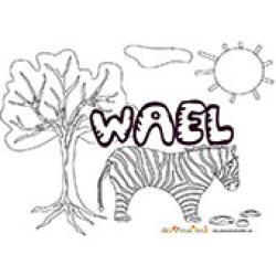 Wael, coloriages  Wael