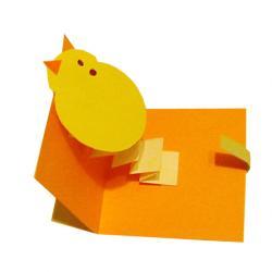Carte de Pâque animée d'un poussin