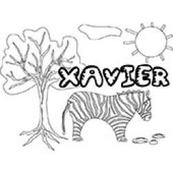 Xavier, coloriages Xavier