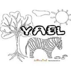 Yael, coloriages Yael