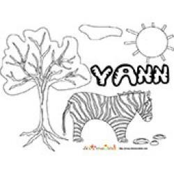 Yann, coloriages Yann