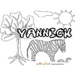Yannick, coloriages Yannick