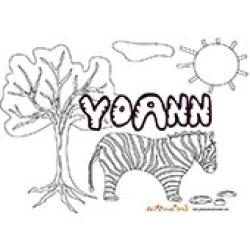 Yohan, coloriages Yohan