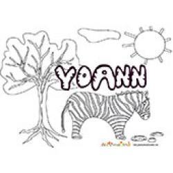 Yoann, coloriages Yoann