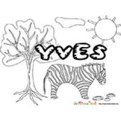 Yves, coloriages Yves