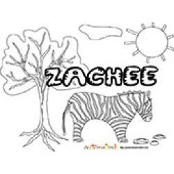 Zachee, coloriages Zachee