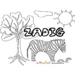 Zadig, coloriages Zadig