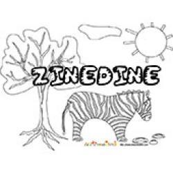 Zinedine, coloriages Zinedine