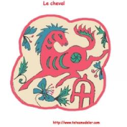 cheval du calendrier chinois