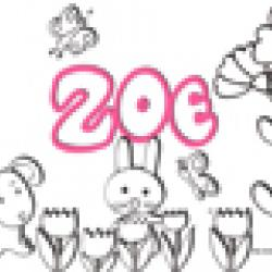 Activités sur le prénom Zoé