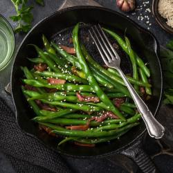 Imprimer la recette de la salade de haricots verts. Une recette illustrée simple à réaliser