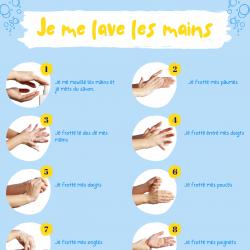 Imprimer gratuitement l'affiche pour aider les enfants à apprendre à se laver les mains. Vous pouvez la plastifier et la mettre dans la salle de bain afin que l'enfant visualise les étapes pour se laver correctement les mains.