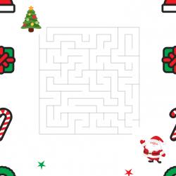 Imprimer le labyrinthe le père Noël et son sapin afin de les aider à se retrouver pour Noel.