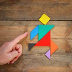 Un tangram coloré à imprimer avec ses modèles