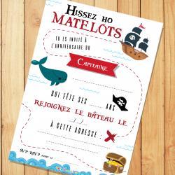 Imprimer gratuitement une invitation pour organiser un anniversaire sur le thème des pirate. Profitez-en pour la glisser dans son enveloppe pour impressionner tous les petits moussaillons.