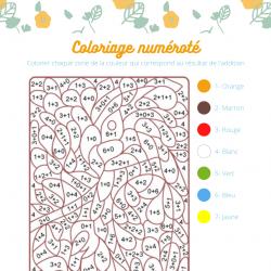 Unjeu pour colorier et compter, pour manipuler les tables additions de 1 à 7 tout en jouant sur le thème des additions.