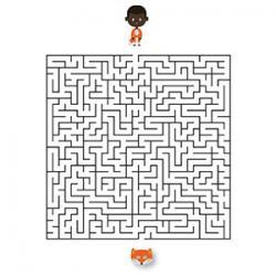 Un jeu de labyrinthe à imprimer sur le thème du carnaval