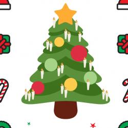 Jeu de calcul sur Noël. A votre enfant de compter les bougies du sapin puis de trouver le bon chiffre. Un petit jeu de calcul pour compter jusqu'à 7