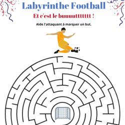 Jeux de Labyrinthes sur le foot à imprimer
