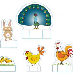 Petits animaux de la ferme au printemps à imprimer pour se créer un petit jeu de la ferme. Cette planche de jouet à imprimer propose des petits animaux de la ferme nés au printemps.