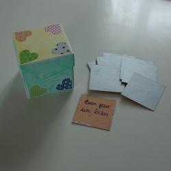 tuto pour bricoler avec les enfants une boîte aux messages secrets pour la fête des pères