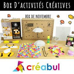 Retrouvez la Box Créabul et proposez à vos enfants des activités inédites chaque mois avec Tête à modeler