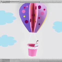 activité de bricolage enfants pour réaliser une montgolfière en papier