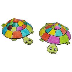 tuto pour bricoler avec les enfants une tortue en papier