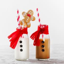 Ce lait vanille et ce lait au chocolat épicé raviront les papilles de vos petits lutins à l'approche de Noël.